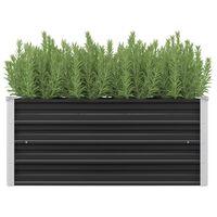 vidaXL Garten-Hochbeet Anthrazit 100 x 40 x 45 cm Verzinkter Stahl