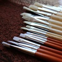 24 Künstler Malpinsel Set, Großes