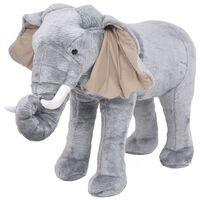 vidaXL Plüschtier Stehend Elephant Grau XXL