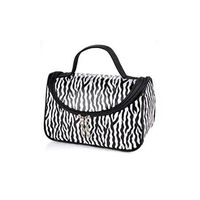 Zebra White Pattern Cosmetic Make Up Travel Package Case Pouch  -