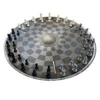 Schach für Drei - Rundes Schachbrett